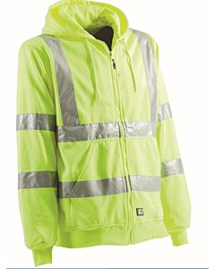 Hi-Vis Class 3 Lined Hooded Sweatshirt